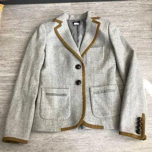 J. Crew Gray Wool Blazer, Size 0